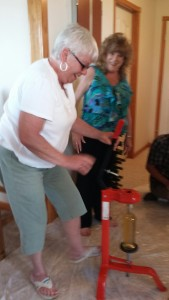 Picture is a little fuzzy...but then this was the wine making event (2014)!